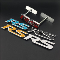 3D Metal RS Rline Car Grill Badge Emblem Car Styling Sticker For Volkswagen VW Polo Golf