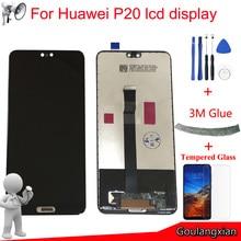 5.8 Için AAA kalite LCD Huawei P20 LCD ekran dokunmatik ekranlı sayısallaştırıcı grup Için P20 LCD EML L09 EML L22 EML L29 LCD