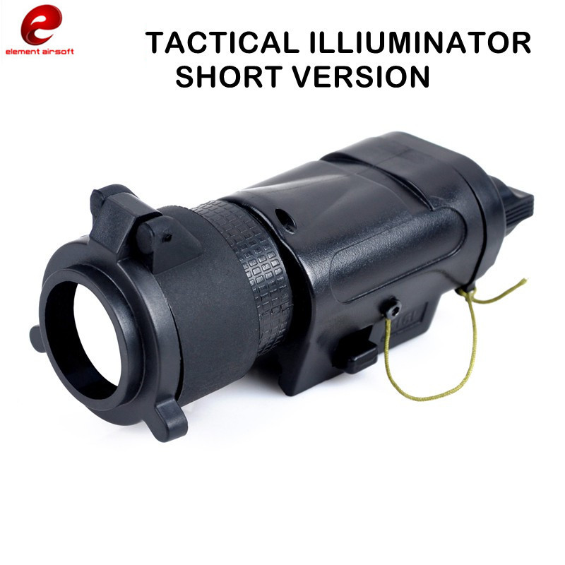 Element Airsoft Tactical Flashlight&Searchlight M3X Tactical 240 Illuminator Short Version Lanterns for Hunting 20mm Rail Weapon ex 179 tactical torch element tactical light l 3 advanced illuminator combo with an peq 16a and m3x hunting tactical flashlight