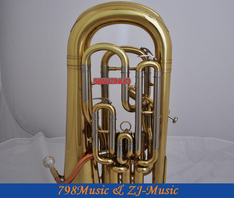 Профессиональный Золотой 4 клапан euphonium компенсирующая система РОГ с Чехол