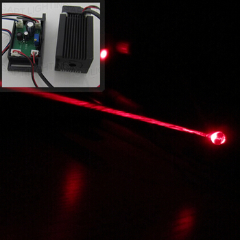 Rgb 레이저 무대 조명을위한 ttl 및 팬이있는 새로운 dc12v 638nm 400 mw 적색 레이저 모듈