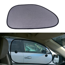 2pcs Black Car Sun Shade Side Window Sunshade Cover Mesh Visor Shield Screen Solar UV Protection 65*38cm Car Window Protector(China)