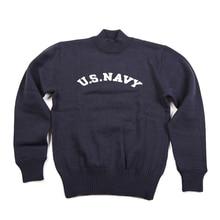 NON STOCK US Navy Turtleneck Woolen Sweater Vintage USN Military Mens Pullover