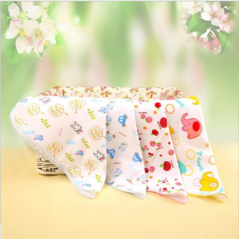 5pcs 30*30 Children Washcloth Baby Feeding Baby Face Towels Washers Hand Cute Cartoon Wipe Wash Cloth Cotton For Feeding Bathing