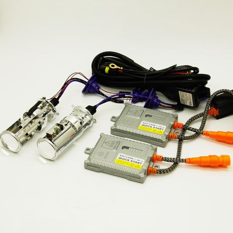 1 ensemble H4 hid hi-lo mini projecteur lentille xénon phare pour voiture 55w 6000k 4300k 8000k