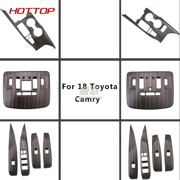 14pcs Window Switch reading lamp cover for Toyota Camry 2018 2019 Interior Wooden Cover Car SUV Styling Decoration Accessories14pcs Window Switch reading lamp cover for Toyota Camry 2018 2019 Interior Wooden Cover Car SUV Styling Decoration Accessories