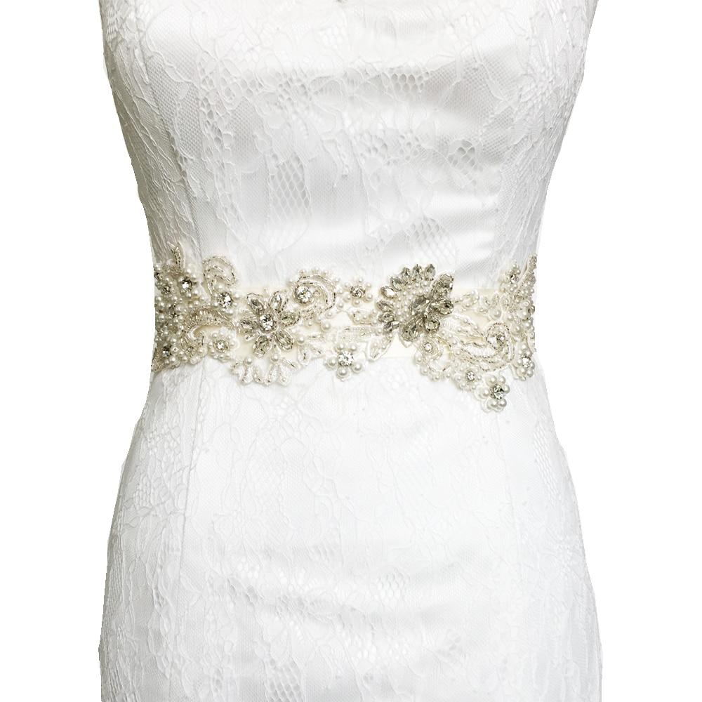 Handmade crystal bridal belt rhinestone pearl luxury wedding dress - Topqueen S157 Free Shipping 2016 Pure Handmade Luxury Wedding Sashes Rhinestone Beading Bridal Sash Belt Wedding