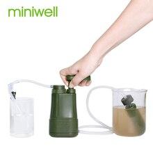Miniwell открытый очиститель воды Кемпинг Туризм аварийный жизни выживания Портативный очиститель воды фильтр