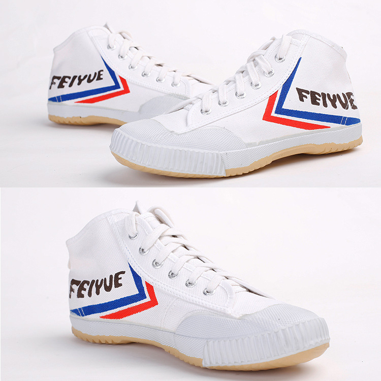 White FEIYUE High classic canvas Sport shoes athletic shoes martial arts tai chi shoes Black Training sneakers for men women