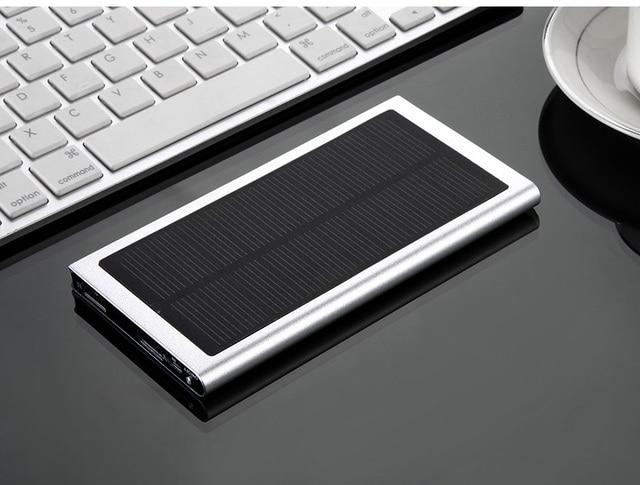 Nova 10000 mah solar mobile power bank carregador solar para iphone 7 samsung s6 s7 edge externo banco de energia solar móvel Powerbank