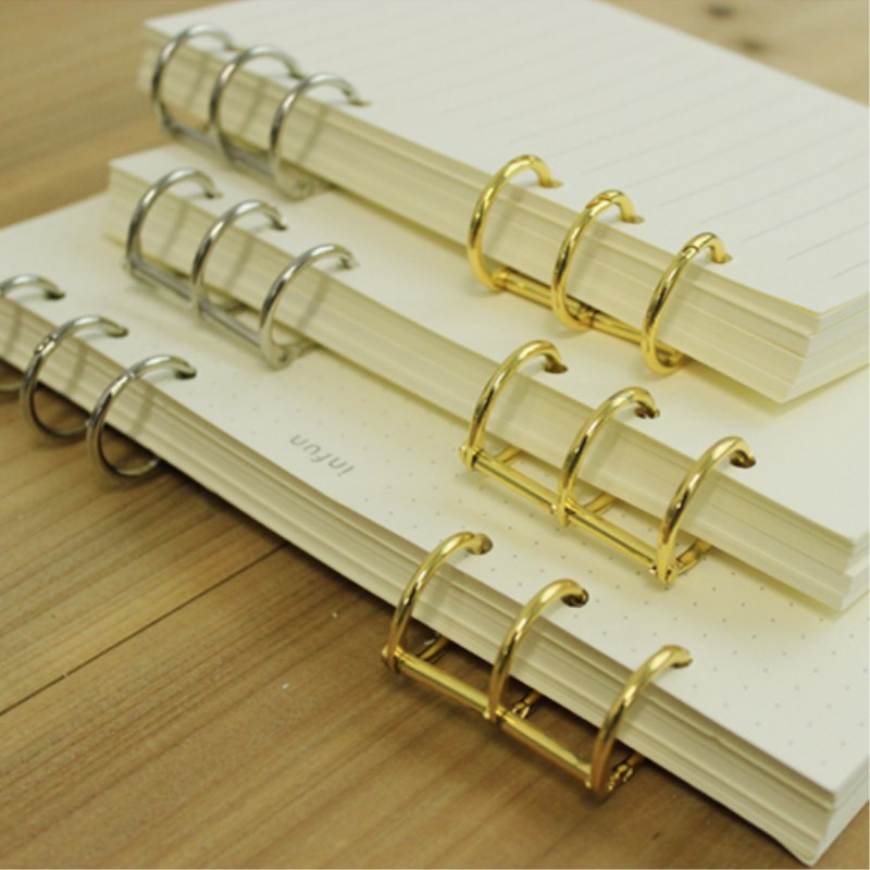 Loose Leaf Spiral Notebook Stainless Steel Clip 3 Holes