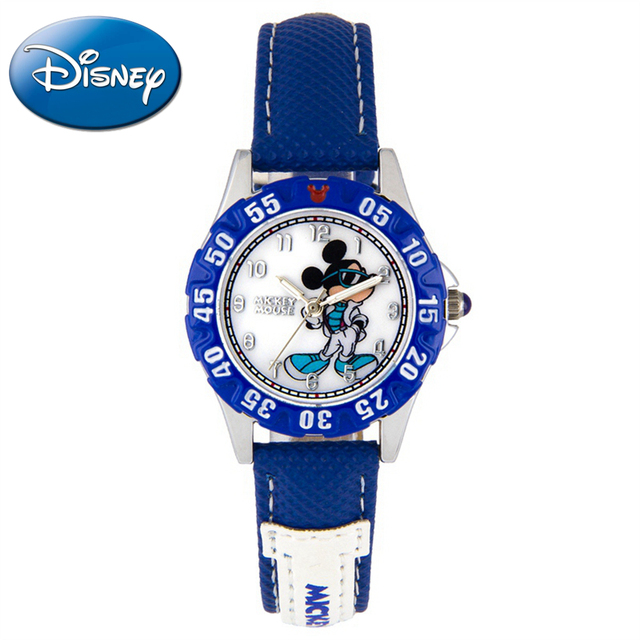 Children Sports Mickey mouse cartoon watch Boy blue black color handsome cool watches Ball skate game Disney fitness dream 14032