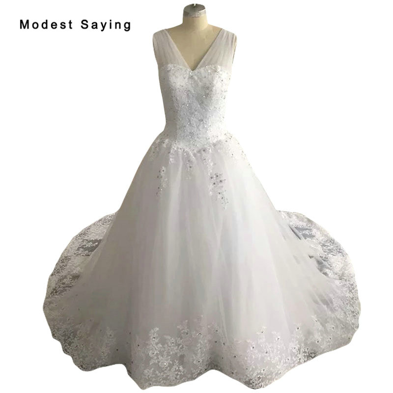 Royal Wedding Ball Gown: New Arrival Luxury Monarch Ball Gown Beaded Lace Wedding
