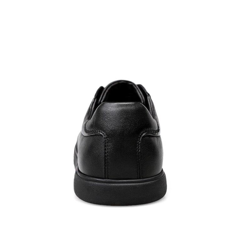 Anti Couro branco Sapatilhas Sapatos Homens Das black Respirável Preto Genuíno odor De Casuais Jovens twqXB