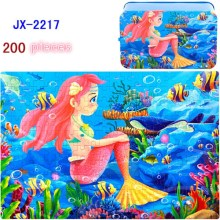 007//200pieces// tin Wooden Jigsaw Puzzle boy girl child children 3-6 years old 4-5-7-8 years old baby toys