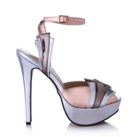 Superstar Ankle Strap Extreme High Heels PU Leather Buckle Sandals Women Summer Thin Heel Shoes Woman Fashion Platform Sandalies