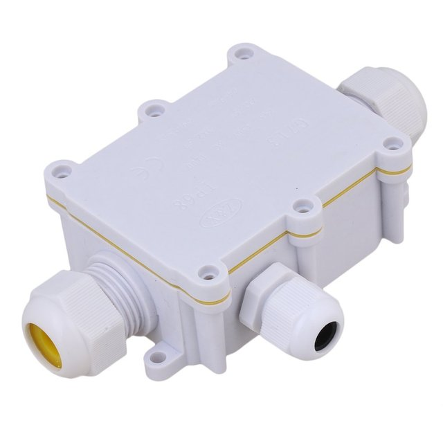 white 3 way outdoor cable wire connectors junction box ip68 rh aliexpress com Outdoor Weatherproof Box Outdoor Weatherproof Box