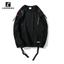 New High Street Men Hoodies Sweatshirt Hip Hop Cotton Black Male Streetwear Loose Hooded Pullover Harajuku Tracksuit Coat