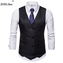 New fashion Men Brand Suit Vest Single-breasted vest Jacket Sleeveless Vintage solid Vests Fashion plus Size Waistcoat