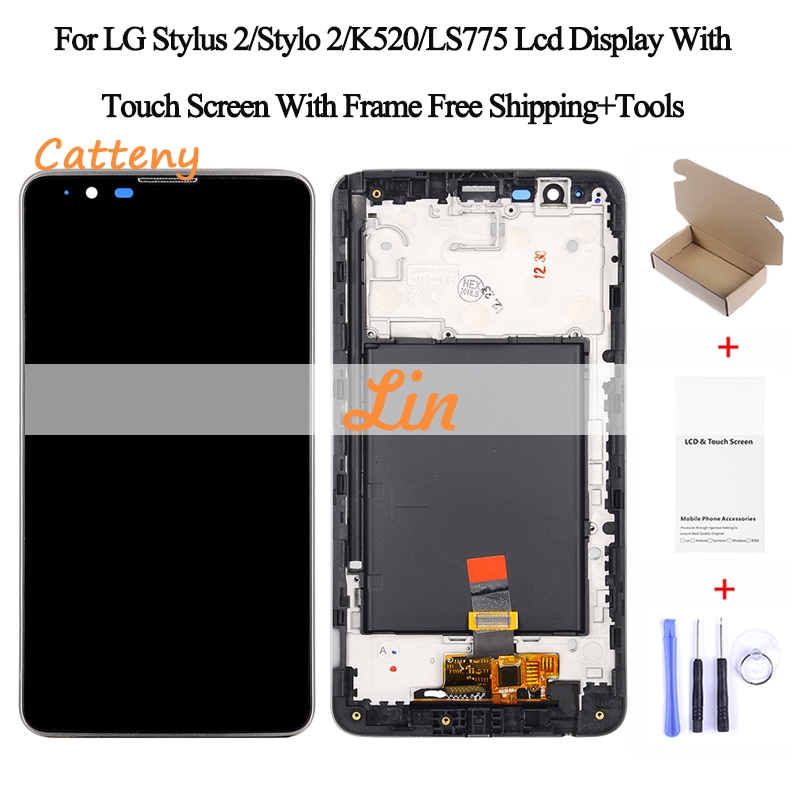 100% Tested For Lg Stylus 2 K520 Ls775 K540 Lcd Display With Touch Glass Digitizer Frame Assembly Pantalla Black Color Sale Price Mobile Phone Lcds