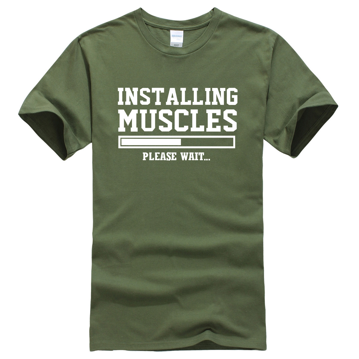 Men's   T  -  shirts   summer 2019 printed INSTALLING MUSCLES funny   T  -  shirt   fashion brand clothing crossfit   t     shirt   men homme fitness