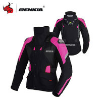 BENKIA Women S Motocross Race Jacket Winter Riding Ropa Moto Pink Motorcycle Jacket Motorcycle Jacket For