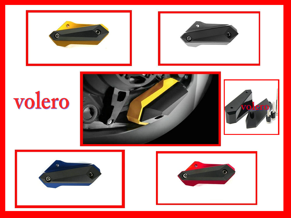 volero New Style of CNC Aluminum Motorcycle Cover Crash Pad Engine Frame Protector sliders right for yamaha yzf r3 2015 2016 2017 new volero motorcycle trousers