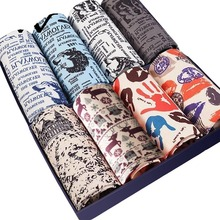 WTEMPO 8 pcs lot Brand Trunk Mens Boxers Fashion Sexy Men Underwear Mens Underpants Male Panties Shorts U Convex Pouch for Gay cheap Boxer Shorts Milk Fiber spandex 8 pcs lot Underwear Print 8 Pcs in One Brand Gift OPP XL XXL XXXL XXXXL