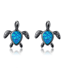 Creative Opal Turtle Opel Small Earrings For Women Accessories Fashion Hot Sale Gift Boucle Doreille Femme 2019