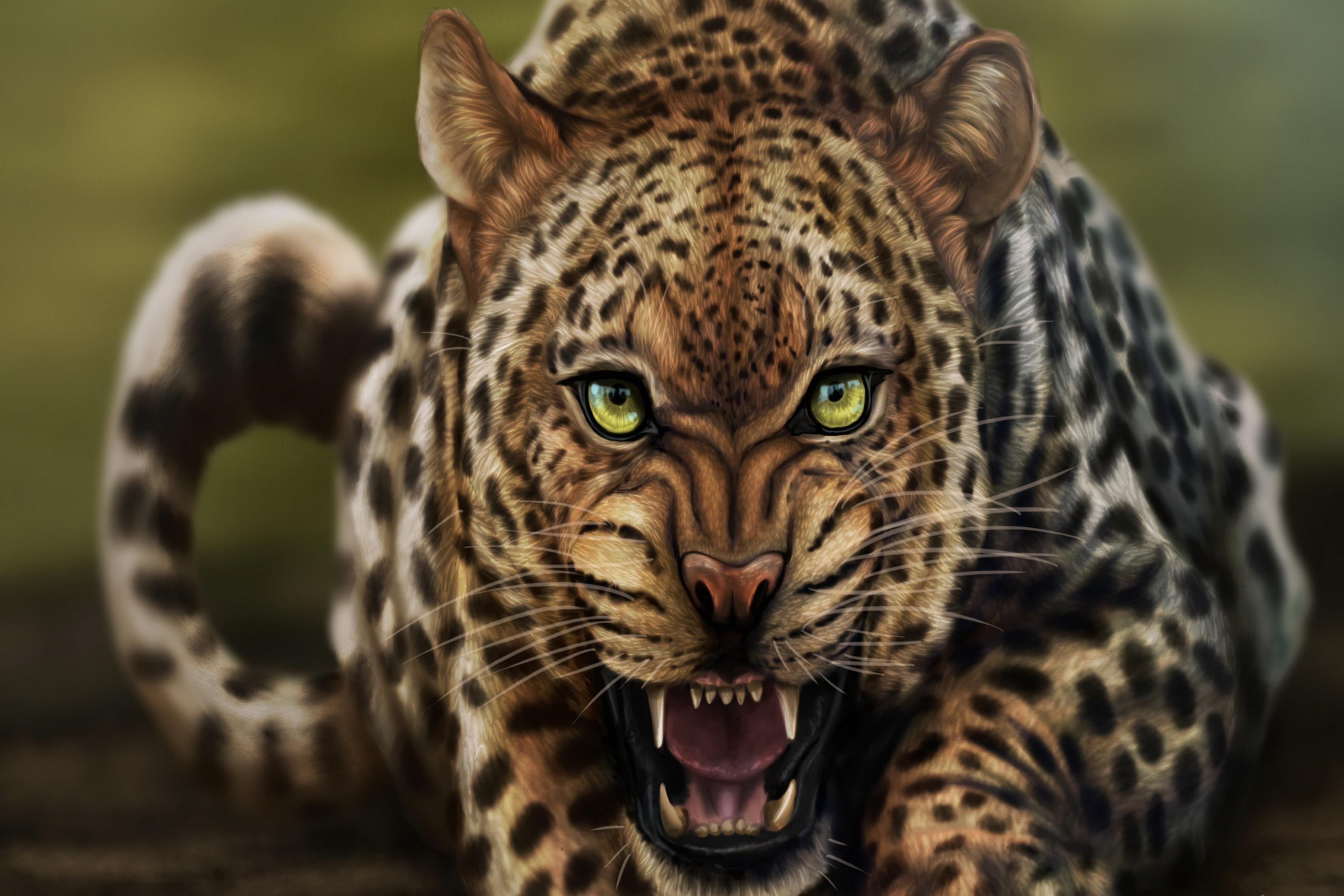 Online Leopard Face Art China
