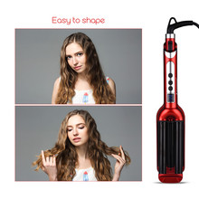 Ceramic Styler Hair curler hair waver roller 3 Triple Barrel Waver With LCD display hair curling iron hair styling tool beauty