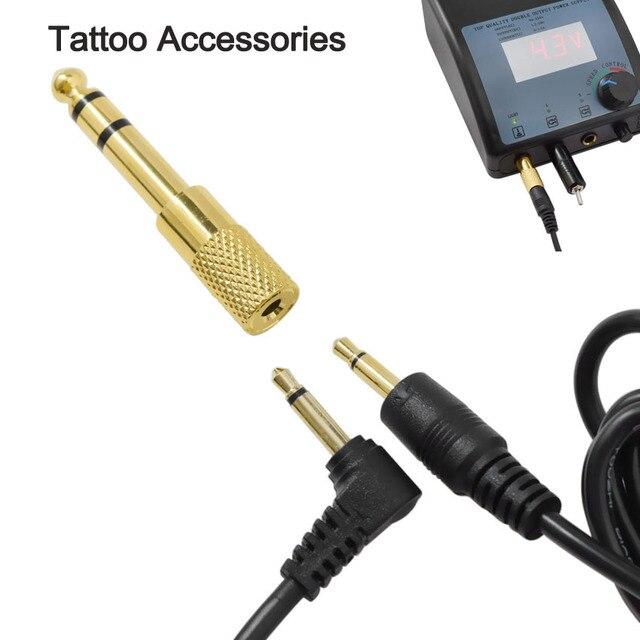 Línea de conversión de tatuaje de 3,5mm a 2,5/3,5mm Kit de conversión de cabeza de enchufe de Clip de cable de maquillaje permanente Microblading tatuaje suministro de herramientas