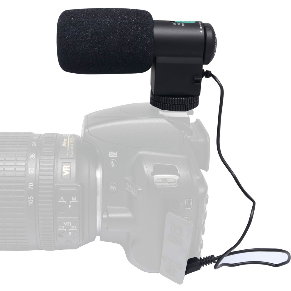 Mcoplus Mini External Black Directional Stereo Microphone Mic 109 for 3 5mm Mic Jack Canon Nikon