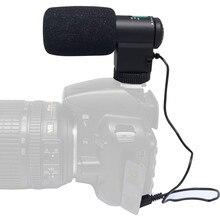 M coplusมินิภายนอกสีดำทิศทางไมโครโฟนสเตอริโอMic-109สำหรับ3.5มิลลิเมตรไมค์แจ็คCanon/Nikon/โซนี่กล้องDSLRและDVกล้องวีดีโอ