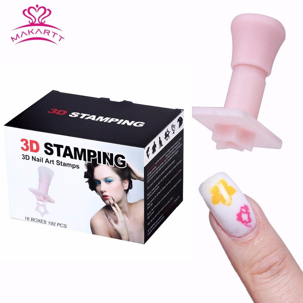 MAKARTT 3D Nail Art timbres modèle mode motif vernis impression estampage plaques beauté pochoirs ongles outils pour ongle F0634