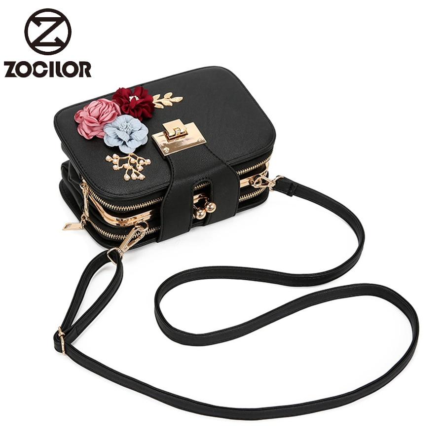 2019 Spring Fashion  Flowers Women Shoulder Bag Strap Flap Designer Handbags Clutch Bag Ladies Messenger Bags With Metal Buckle
