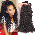 7A Unprocessed Virgin Brazilian Hair Natural Wave Brazilian Hair 4 Bundles Brazilian Water Wave Cheap Curly Human Hair Bundles