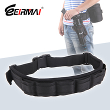 EIRMAI Camera Waist Belt Adjustable Padded DSLR Pack Strap Mount Pouch Holder Buckle Hanger Holster Photography Accessories camera waist belt strap mount holder buckle hanger holster for canon nikon dslr