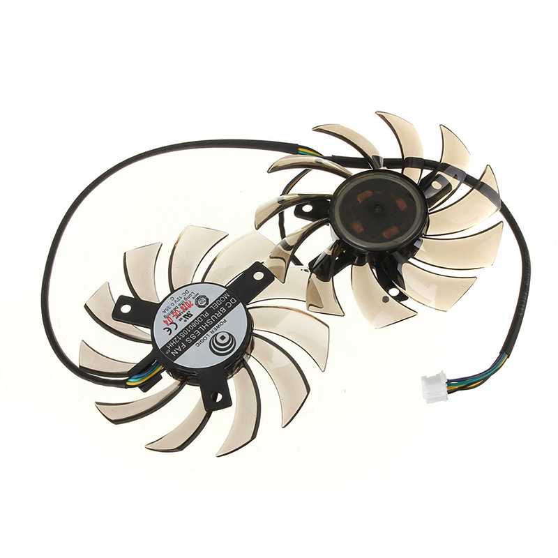75MM <font><b>Graphics</b></font> <font><b>card</b></font> Dual fans for MST <font><b>GTX</b></font> <font><b>460</b></font> 580 R6870 R6950 image