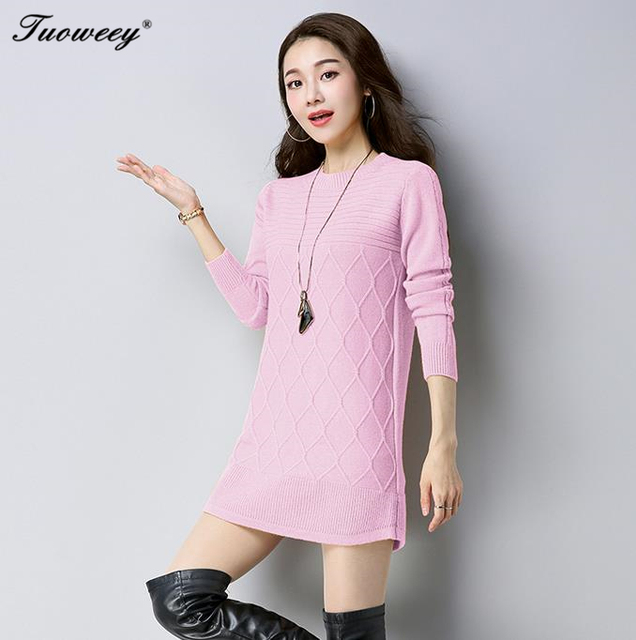 af95f53cb00d8 Brand Name Sweaters Long Knitted Pullover Fashion Women Winter Business  Casual Sweaters Oversized Female Loose Crochet