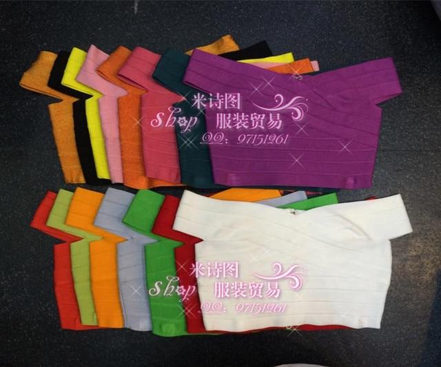 Al por mayor Nueva Encabeza Una variedad de colores de Moda withSlim Estiramiento Del Vendaje Tops (H0728)
