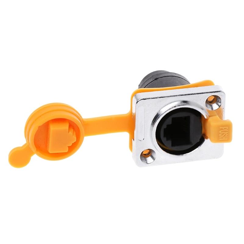 1 Pc RJ45 Waterproof Connector Sockets LED Display...