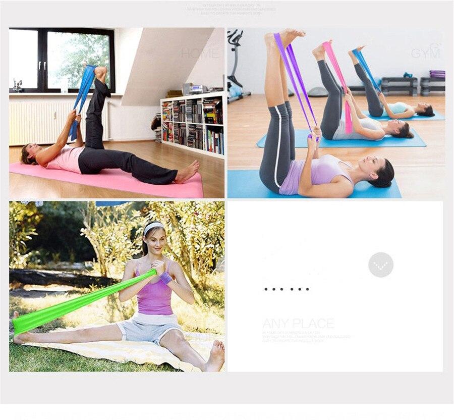 Fitness Elastic Band Indoor Pilates Rubber Resistance Bands Yoga Ribbon (4)