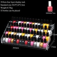 TONVIC Sieraden Display Standhouder Make Cosmetische Clear Acryl Organizer Lipstick Verwijderbare nagellak display rack