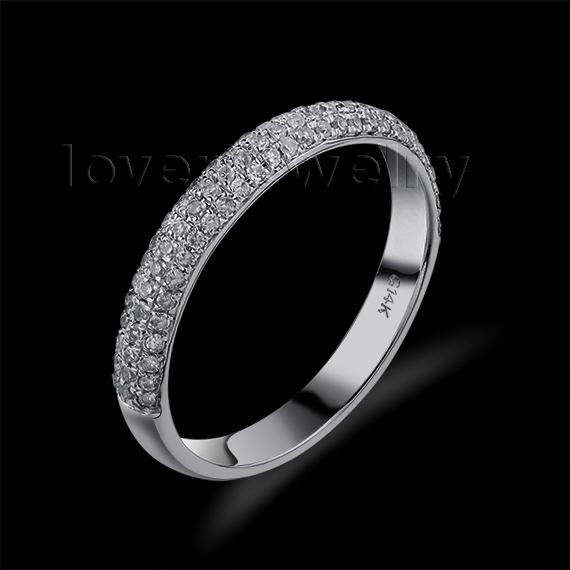 hot selling vintage 14kt white gold natural diamond engagement wedding band ring sr0069 - Where To Sell Wedding Ring