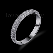 Hot Selling Vintage 14Kt White Gold Natural Diamond Engagement Wedding Band Ring SR0069