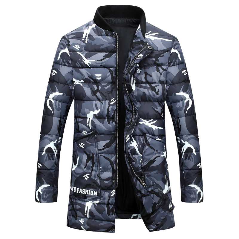 2017 new style Men s fashion leisure meteor shower trench coat jacket Men Camouflage colors Cotton