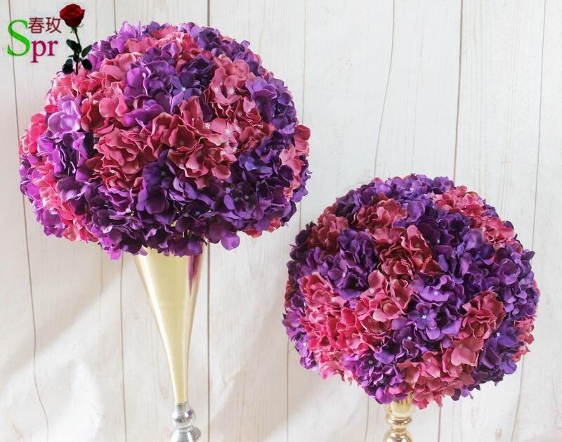 SPR nouveau 40 cm dia. table de mariage fleur boule pièce maîtresse artificielle décoration de mariage scène arc floral