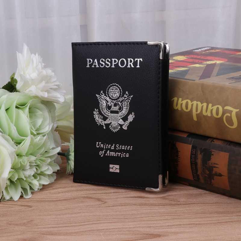 1 Pc キャンディーカラーパスポートトラベルオーガナイザーホルダーカードケースプロテクターアメリカカバーパスポートホルダー