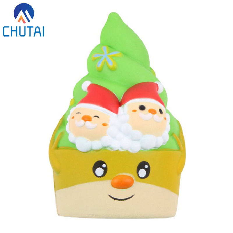 Super Jumbo Christmas Ice Cream Squishi PU Squishy Slow Rising Kawaii Scented Soft Kids Toys Stress Relief Squeeze Toys 16*10CM